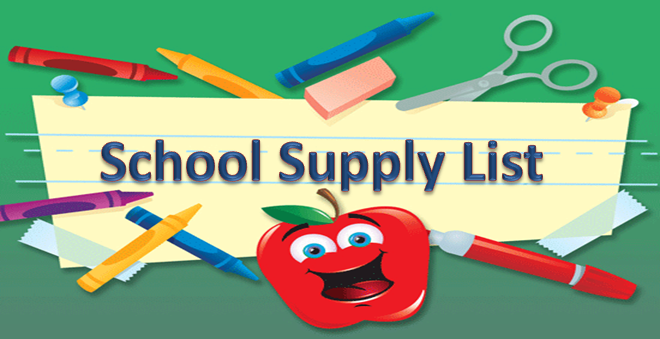 This is the image for the news article titled 2018-2019 School Supply List