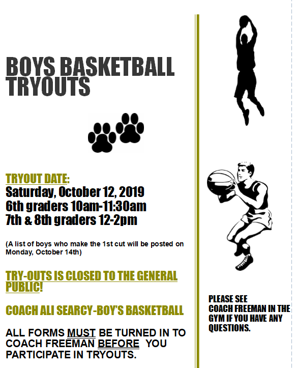 Boys BB Tryout Flyer