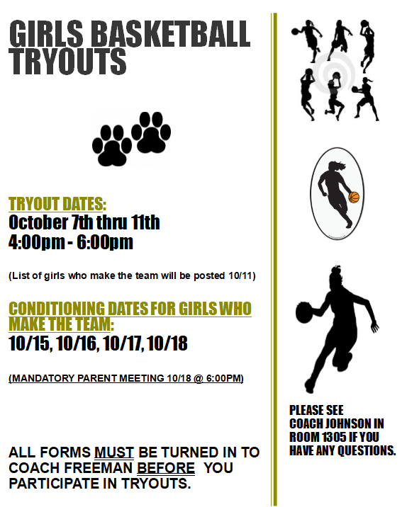 Girls BB Tryout Flyer